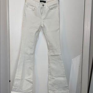 White wide leg BR pants